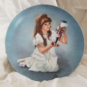 Clara and Nutcracker collectors plate